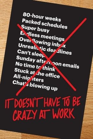 Productivity book recommendation - It Doesnt Have to Be Crazy At Work by Jason Fried & David Heinemeier Hansson